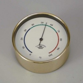 Hygrometer,Mini - 90mm / Brass, 3-coloured deco line