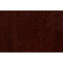 Wooden plate Mahogany matt 165 mm diam.