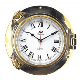 Plastimo 6 inch Traditional Solid Brass Clock