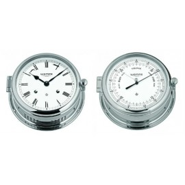 Wempe Admiral II Chrome plated barometer Set cw460003+cw460006