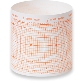 Wempe Drum barograph Diagram paper 52 sheet/1 year
