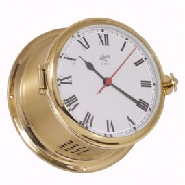 schatz royal 180 quartz clock roman SHIP'S CLOCK - POLISHED, BRUSHED AND LACQUERED BRASS 481c