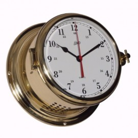 Schatz royal 180 quartz clock Arabic SHIP'S CLOCK - POLISHED, BRUSHED AND LACQUERED BRASS 481CA