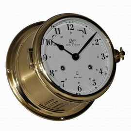 Schatz ROYAL MARINER 180 - SHIP'S CLOCKS - POLISHED, BRUSHED AND LACQUERED BRASS 481 CMA