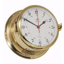Schatz 481 CSA - Royal 180 Quartz Clock -SHIP'S BELL CLOCK - POLISHED, BRUSHED AND LACQUERED BRASS 481 CSA