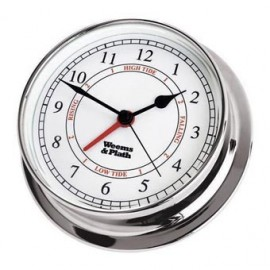 Weems and Plath Endurance 125 quartz clock and tide Chrome