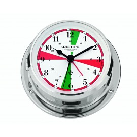 Skiff brass  chrome plated  Radioroom clock with silent sectors