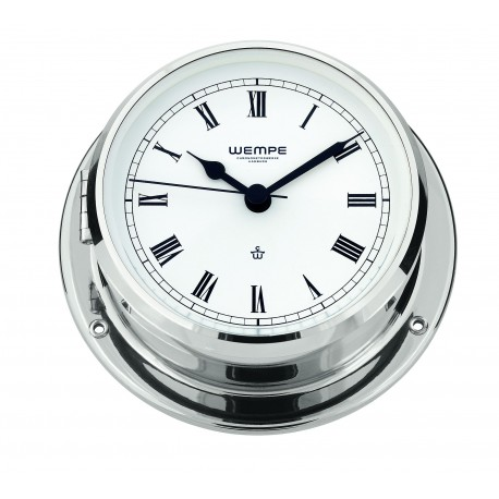 Skiff brass  chrome plated  Ship's clock