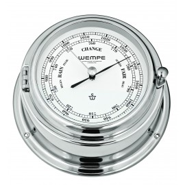 BREMEN II   brass  chrome plated Barometer